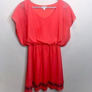 [Charming Charlie] Red Orange Dress